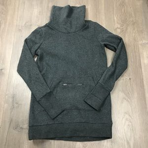 Fabletics Charcoal Zaylee Fleece Pullover XS